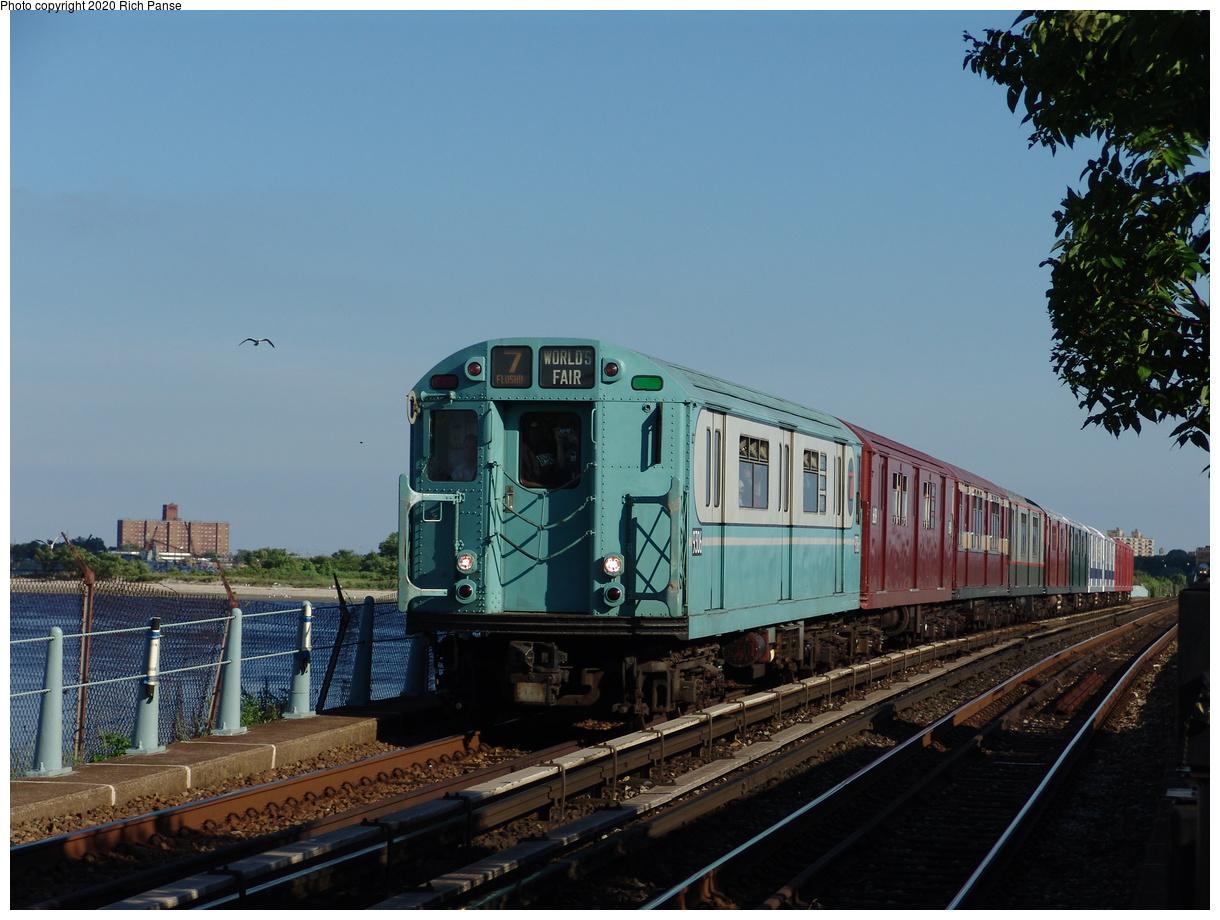 (390k, 1220x920)<br><b>Country:</b> United States<br><b>City:</b> New York<br><b>System:</b> New York City Transit<br><b>Line:</b> IND Rockaway Line<br><b>Location:</b> Broad Channel<br><b>Route:</b> Fan Trip<br><b>Car:</b> R-33 World's Fair (St. Louis, 1963-64) 9306 <br><b>Photo by:</b> Richard Panse<br><b>Date:</b> 6/19/2004<br><b>Viewed (this week/total):</b> 1 / 2890