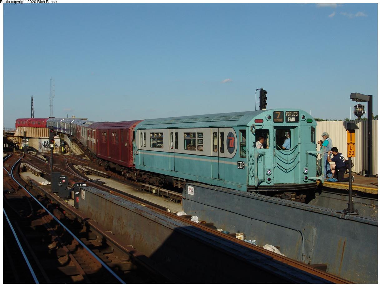 (365k, 1220x920)<br><b>Country:</b> United States<br><b>City:</b> New York<br><b>System:</b> New York City Transit<br><b>Line:</b> IND Fulton Street Line<br><b>Location:</b> Rockaway Boulevard<br><b>Route:</b> Fan Trip<br><b>Car:</b> R-33 World's Fair (St. Louis, 1963-64) 9306 <br><b>Photo by:</b> Richard Panse<br><b>Date:</b> 6/19/2004<br><b>Viewed (this week/total):</b> 2 / 3283