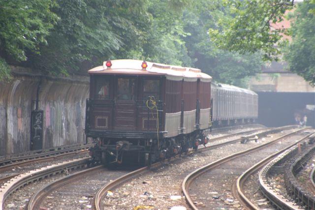 (54k, 640x427)<br><b>Country:</b> United States<br><b>City:</b> New York<br><b>System:</b> New York City Transit<br><b>Line:</b> BMT Brighton Line<br><b>Location:</b> Beverley Road<br><b>Route:</b> Fan Trip<br><b>Car:</b> BMT Elevated Gate Car 1404-1273-1407 <br><b>Photo by:</b> Steven Maier<br><b>Date:</b> 7/18/2004<br><b>Viewed (this week/total):</b> 1 / 4690