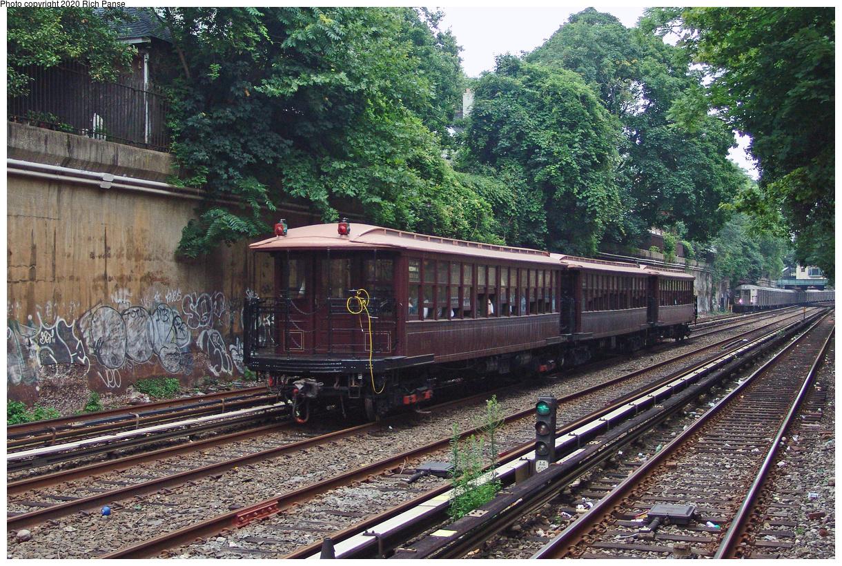 (750k, 1220x820)<br><b>Country:</b> United States<br><b>City:</b> New York<br><b>System:</b> New York City Transit<br><b>Line:</b> BMT Brighton Line<br><b>Location:</b> Cortelyou Road<br><b>Route:</b> Fan Trip<br><b>Car:</b> BMT Elevated Gate Car 1407 <br><b>Photo by:</b> Richard Panse<br><b>Date:</b> 7/18/2004<br><b>Viewed (this week/total):</b> 2 / 3229