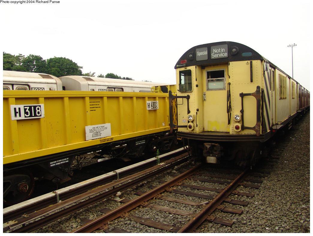 (172k, 1044x788)<br><b>Country:</b> United States<br><b>City:</b> New York<br><b>System:</b> New York City Transit<br><b>Location:</b> 36th Street Yard<br><b>Car:</b> R-95 Revenue Collector 0R723 (ex-7490)<br><b>Photo by:</b> Richard Panse<br><b>Date:</b> 7/18/2004<br><b>Viewed (this week/total):</b> 7 / 4870