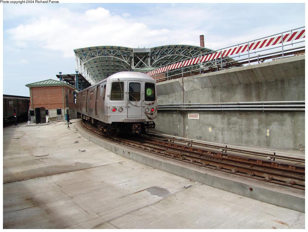 (159k, 1044x788)<br><b>Country:</b> United States<br><b>City:</b> New York<br><b>System:</b> New York City Transit<br><b>Location:</b> Coney Island/Stillwell Avenue<br><b>Route:</b> G<br><b>Car:</b> R-46 (Pullman-Standard, 1974-75) 5xxx <br><b>Photo by:</b> Richard Panse<br><b>Date:</b> 7/25/2004<br><b>Viewed (this week/total):</b> 0 / 6292