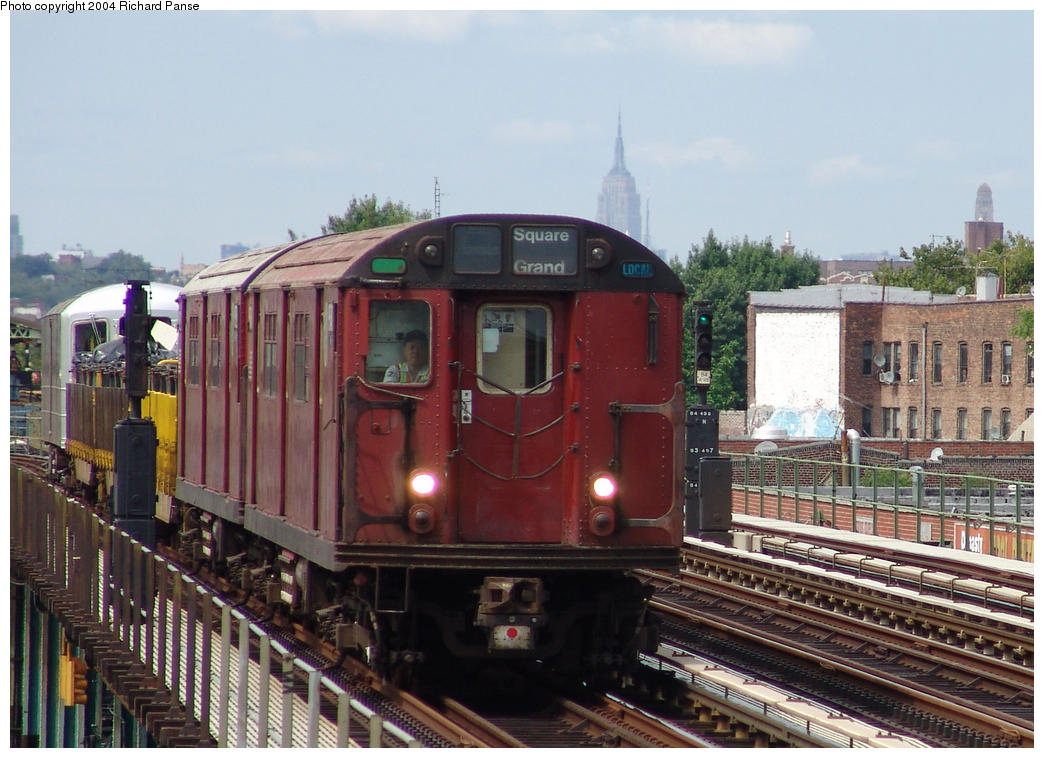 (168k, 1044x758)<br><b>Country:</b> United States<br><b>City:</b> New York<br><b>System:</b> New York City Transit<br><b>Line:</b> BMT Culver Line<br><b>Location:</b> Avenue I<br><b>Route:</b> Work Service<br><b>Car:</b> R-33 World's Fair (St. Louis, 1963-64) 9340 <br><b>Photo by:</b> Richard Panse<br><b>Date:</b> 7/25/2004<br><b>Viewed (this week/total):</b> 1 / 4643