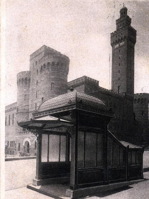 (114k, 503x671)<br><b>Country:</b> United States<br><b>City:</b> New York<br><b>System:</b> New York City Transit<br><b>Line:</b> IRT East Side Line<br><b>Location:</b> 33rd Street<br><b>Collection of:</b> Ed Levine<br><b>Notes:</b> Postcard: Kiosks and Armory<br><b>Viewed (this week/total):</b> 5 / 5580