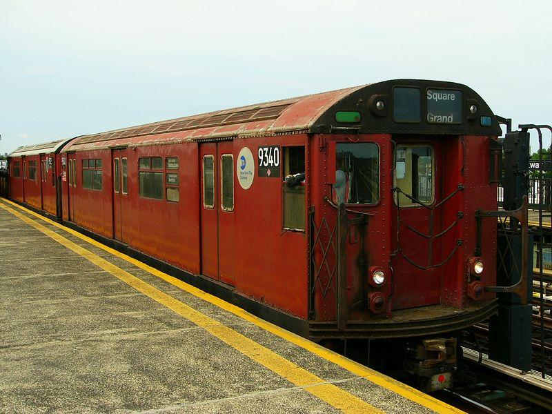 (94k, 800x600)<br><b>Country:</b> United States<br><b>City:</b> New York<br><b>System:</b> New York City Transit<br><b>Line:</b> BMT Culver Line<br><b>Location:</b> Bay Parkway (22nd Avenue)<br><b>Route:</b> Work Service<br><b>Car:</b> R-33 World's Fair (St. Louis, 1963-64) 9340 <br><b>Photo by:</b> Ted Siuta<br><b>Date:</b> 7/25/2004<br><b>Viewed (this week/total):</b> 0 / 3624