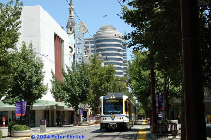(199k, 720x478)<br><b>Country:</b> United States<br><b>City:</b> Sacramento, CA<br><b>System:</b> SACRT Light Rail<br><b>Location:</b> 10th & K<br><b>Car:</b> Sacramento CAF LRV 221 <br><b>Photo by:</b> Peter Ehrlich<br><b>Date:</b> 6/28/2004<br><b>Viewed (this week/total):</b> 0 / 2043