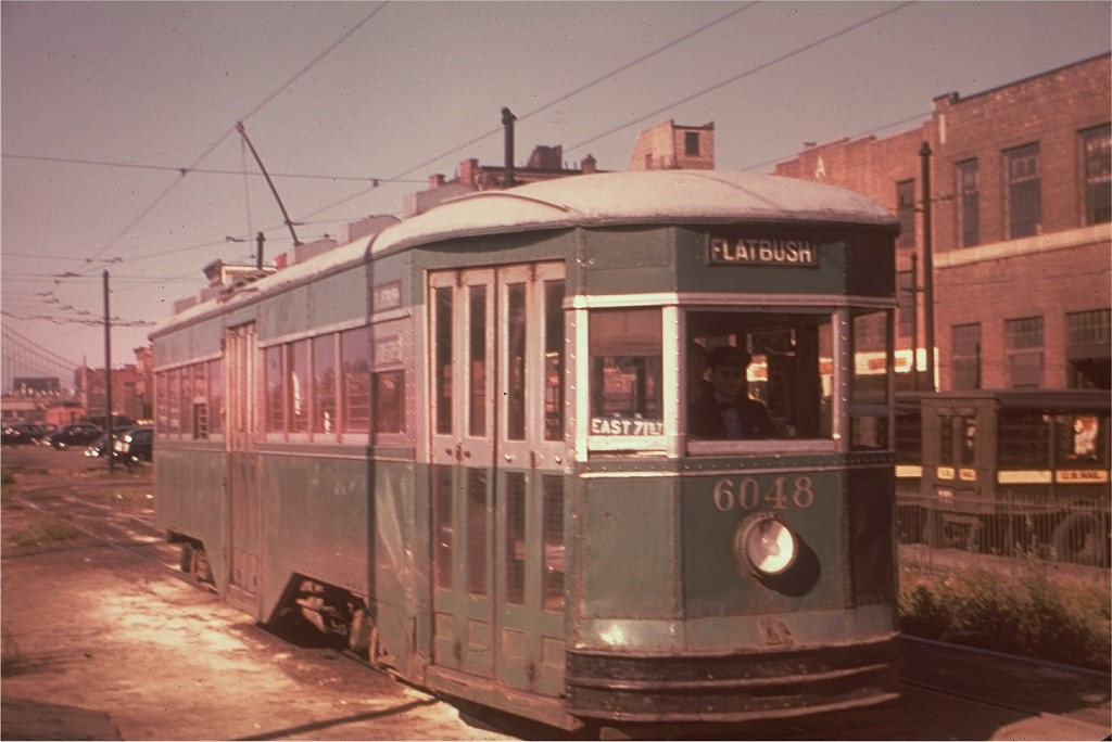 (154k, 1024x684)<br><b>Country:</b> United States<br><b>City:</b> New York<br><b>System:</b> Brooklyn & Queens Transit<br><b>Location:</b> Tillary & Washington<br><b>Car:</b> B&QT/BMT 6048 <br><b>Collection of:</b> Joe Testagrose<br><b>Date:</b> 9/10/1949<br><b>Viewed (this week/total):</b> 2 / 2366