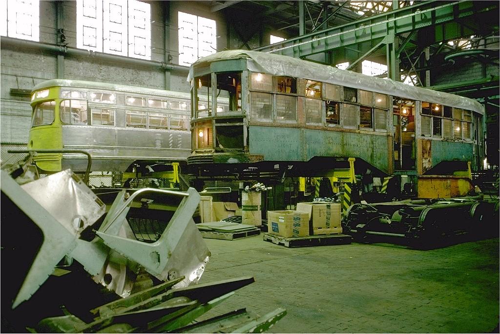 (272k, 1024x684)<br><b>Country:</b> United States<br><b>City:</b> New York<br><b>System:</b> New York City Transit<br><b>Location:</b> Coney Island Shop/Overhaul & Repair Shop<br><b>Car:</b> B&QT/BMT 8361 <br><b>Photo by:</b> Doug Grotjahn<br><b>Collection of:</b> Joe Testagrose<br><b>Date:</b> 11/11/1978<br><b>Viewed (this week/total):</b> 0 / 3191