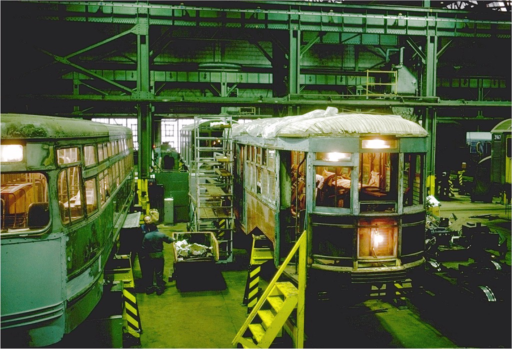 (268k, 1024x698)<br><b>Country:</b> United States<br><b>City:</b> New York<br><b>System:</b> New York City Transit<br><b>Location:</b> Coney Island Shop/Overhaul & Repair Shop<br><b>Car:</b> B&QT/BMT 8361 <br><b>Photo by:</b> Steve Zabel<br><b>Collection of:</b> Joe Testagrose<br><b>Date:</b> 11/11/1978<br><b>Viewed (this week/total):</b> 0 / 2919