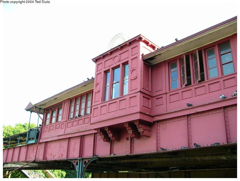 (90k, 820x620)<br><b>Country:</b> United States<br><b>City:</b> New York<br><b>System:</b> New York City Transit<br><b>Line:</b> IRT West Side Line<br><b>Location:</b> 242nd Street/Van Cortlandt Park<br><b>Photo by:</b> Ted Siuta<br><b>Date:</b> 7/25/2004<br><b>Notes:</b> Station house exterior.<br><b>Viewed (this week/total):</b> 3 / 4269