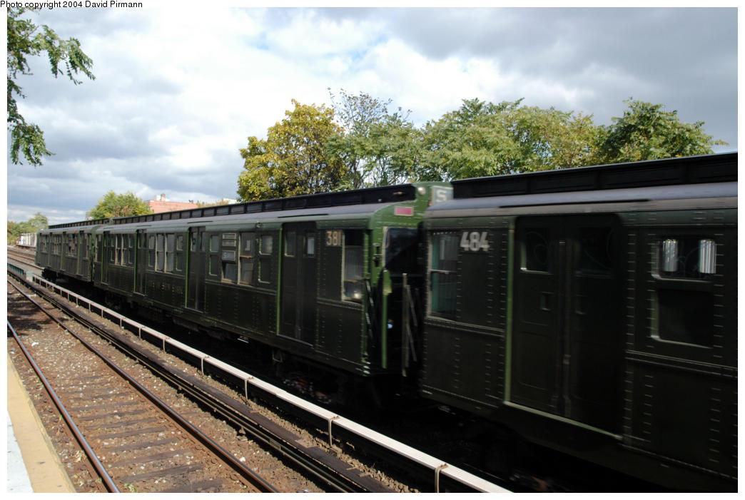 (184k, 1044x701)<br><b>Country:</b> United States<br><b>City:</b> New York<br><b>System:</b> New York City Transit<br><b>Line:</b> BMT Brighton Line<br><b>Location:</b> Avenue U<br><b>Route:</b> Fan Trip<br><b>Car:</b> R-1 (American Car & Foundry, 1930-1931) 381 <br><b>Photo by:</b> David Pirmann<br><b>Date:</b> 10/23/2004<br><b>Viewed (this week/total):</b> 3 / 3442