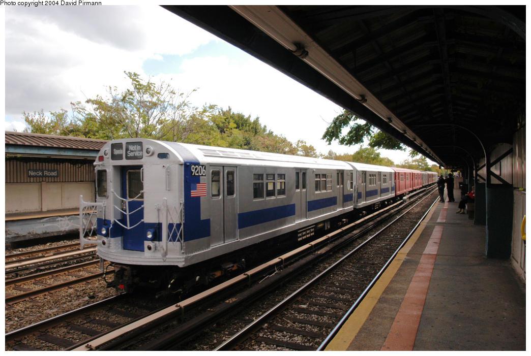 (193k, 1044x701)<br><b>Country:</b> United States<br><b>City:</b> New York<br><b>System:</b> New York City Transit<br><b>Line:</b> BMT Brighton Line<br><b>Location:</b> Neck Road<br><b>Route:</b> Fan Trip<br><b>Car:</b> R-33 Main Line (St. Louis, 1962-63) 9206 <br><b>Photo by:</b> David Pirmann<br><b>Date:</b> 10/23/2004<br><b>Viewed (this week/total):</b> 2 / 8538