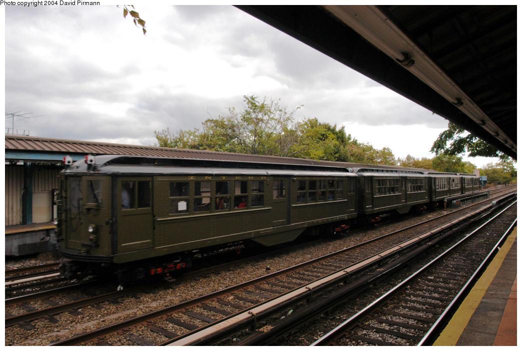 (183k, 1044x701)<br><b>Country:</b> United States<br><b>City:</b> New York<br><b>System:</b> New York City Transit<br><b>Line:</b> BMT Brighton Line<br><b>Location:</b> Neck Road<br><b>Route:</b> Fan Trip<br><b>Car:</b> Low-V (Museum Train) 5443 <br><b>Photo by:</b> David Pirmann<br><b>Date:</b> 10/23/2004<br><b>Viewed (this week/total):</b> 3 / 4805