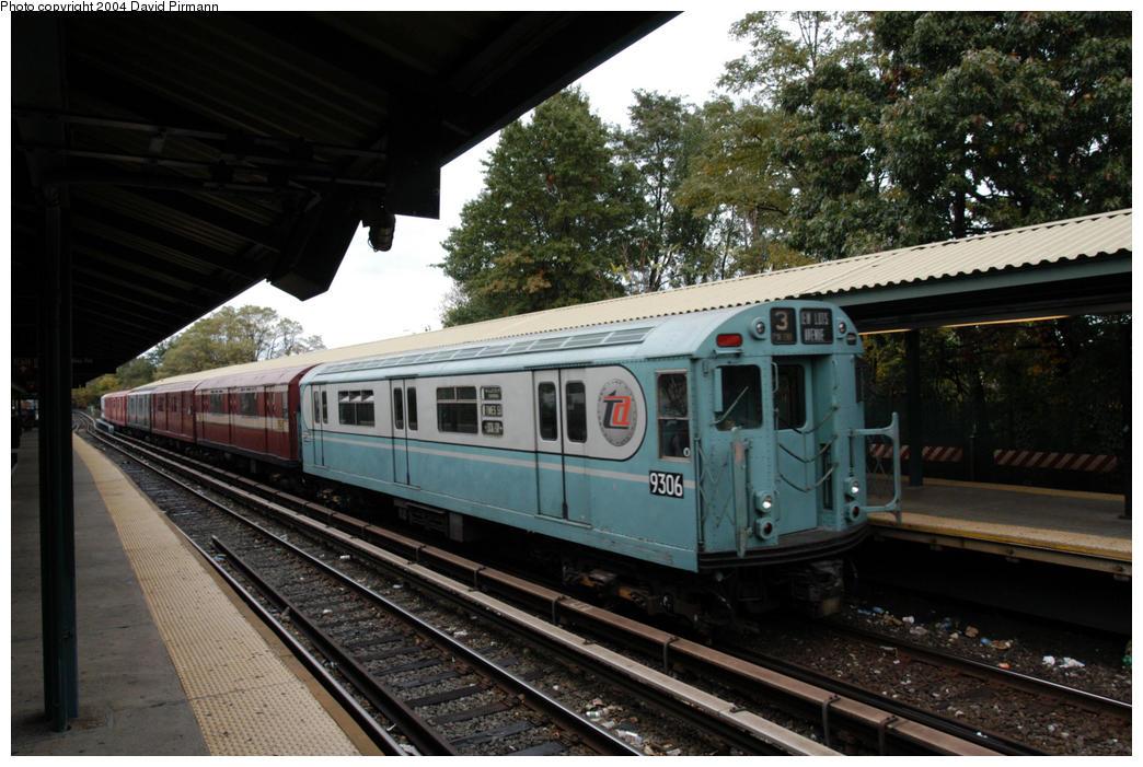 (188k, 1044x701)<br><b>Country:</b> United States<br><b>City:</b> New York<br><b>System:</b> New York City Transit<br><b>Line:</b> BMT Brighton Line<br><b>Location:</b> Sheepshead Bay<br><b>Route:</b> Fan Trip<br><b>Car:</b> R-33 World's Fair (St. Louis, 1963-64) 9306 <br><b>Photo by:</b> David Pirmann<br><b>Date:</b> 10/23/2004<br><b>Viewed (this week/total):</b> 1 / 4392