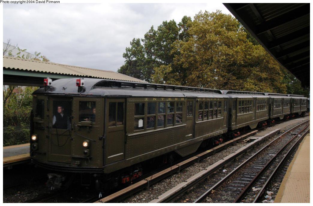 (191k, 1044x686)<br><b>Country:</b> United States<br><b>City:</b> New York<br><b>System:</b> New York City Transit<br><b>Line:</b> BMT Brighton Line<br><b>Location:</b> Sheepshead Bay<br><b>Route:</b> Fan Trip<br><b>Car:</b> Low-V (Museum Train) 5443 <br><b>Photo by:</b> David Pirmann<br><b>Date:</b> 10/23/2004<br><b>Viewed (this week/total):</b> 4 / 3818