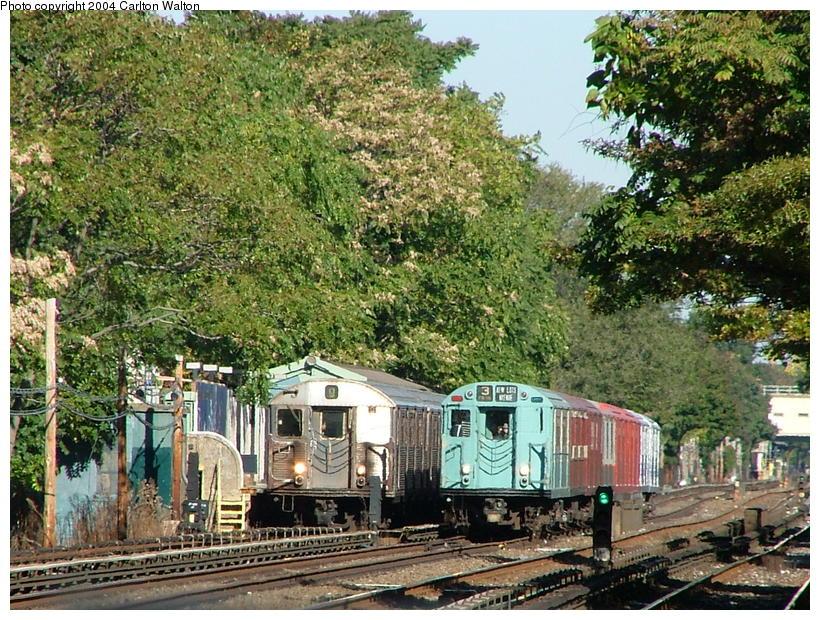 (163k, 820x620)<br><b>Country:</b> United States<br><b>City:</b> New York<br><b>System:</b> New York City Transit<br><b>Line:</b> BMT Brighton Line<br><b>Location:</b> Avenue U<br><b>Route:</b> Fan Trip<br><b>Car:</b> R-33 World's Fair (St. Louis, 1963-64) 9306 <br><b>Photo by:</b> Carlton Walton<br><b>Date:</b> 10/23/2004<br><b>Viewed (this week/total):</b> 10 / 7423