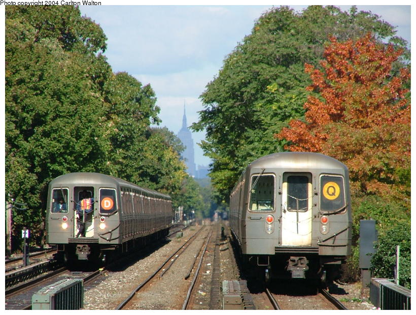 (135k, 820x620)<br><b>Country:</b> United States<br><b>City:</b> New York<br><b>System:</b> New York City Transit<br><b>Line:</b> BMT Brighton Line<br><b>Location:</b> Kings Highway<br><b>Route:</b> Q<br><b>Car:</b> R-68/R-68A Series (Number Unknown)  <br><b>Photo by:</b> Carlton Walton<br><b>Date:</b> 10/23/2004<br><b>Viewed (this week/total):</b> 0 / 7863