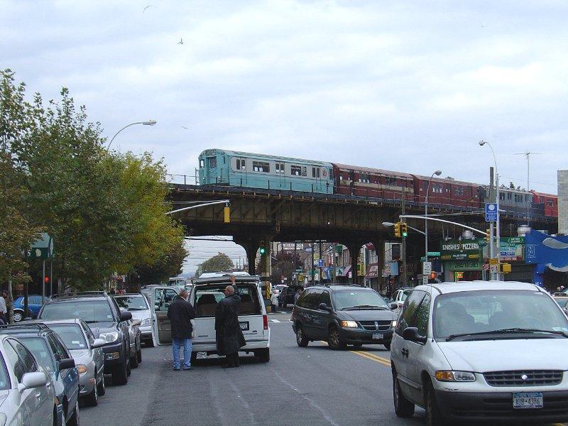(106k, 800x600)<br><b>Country:</b> United States<br><b>City:</b> New York<br><b>System:</b> New York City Transit<br><b>Line:</b> BMT Brighton Line<br><b>Location:</b> Brighton Beach<br><b>Route:</b> Fan Trip<br><b>Car:</b> R-33 World's Fair (St. Louis, 1963-64) 9306 <br><b>Photo by:</b> Fred Guenther<br><b>Date:</b> 10/23/2004<br><b>Viewed (this week/total):</b> 0 / 4486