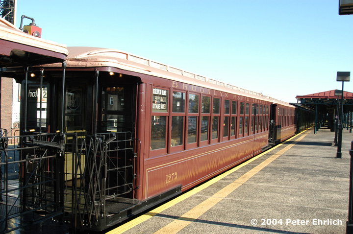 (159k, 720x478)<br><b>Country:</b> United States<br><b>City:</b> New York<br><b>System:</b> New York City Transit<br><b>Line:</b> BMT Astoria Line<br><b>Location:</b> Astoria Boulevard/Hoyt Avenue<br><b>Route:</b> Fan Trip<br><b>Car:</b> BMT Elevated Gate Car 1273 <br><b>Photo by:</b> Peter Ehrlich<br><b>Date:</b> 10/28/2004<br><b>Notes:</b> BU train in excursion service on Astoria line.<br><b>Viewed (this week/total):</b> 5 / 4422