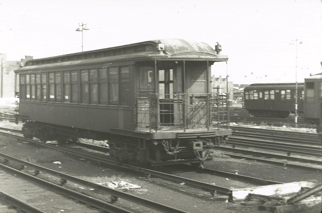 (167k, 1024x678)<br><b>Country:</b> United States<br><b>City:</b> New York<br><b>System:</b> New York City Transit<br><b>Location:</b> East New York Yard/Shops<br><b>Car:</b> BMT Elevated Gate Car 1227 <br><b>Photo by:</b> Harry Pinsker<br><b>Date:</b> 7/22/1961<br><b>Viewed (this week/total):</b> 1 / 4555
