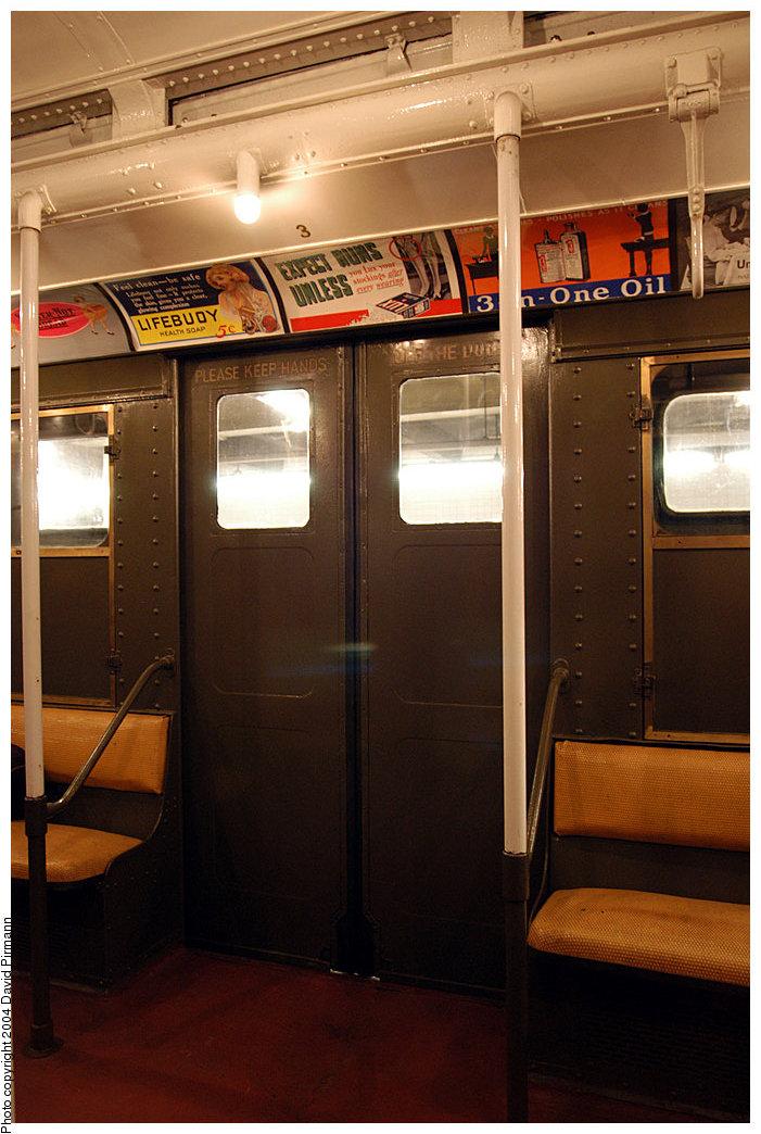 (234k, 701x1044)<br><b>Country:</b> United States<br><b>City:</b> New York<br><b>System:</b> New York City Transit<br><b>Route:</b> Fan Trip<br><b>Car:</b> R-1 (American Car & Foundry, 1930-1931) 100 <br><b>Photo by:</b> David Pirmann<br><b>Date:</b> 11/6/2004<br><b>Viewed (this week/total):</b> 0 / 2753