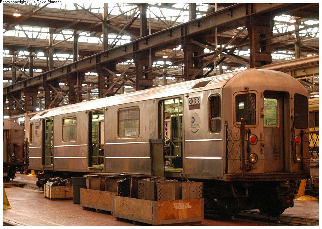 (285k, 1044x742)<br><b>Country:</b> United States<br><b>City:</b> New York<br><b>System:</b> New York City Transit<br><b>Location:</b> 207th Street Shop<br><b>Car:</b> R-62A (Bombardier, 1984-1987) 2088 <br><b>Photo by:</b> David Pirmann<br><b>Date:</b> 11/6/2004<br><b>Viewed (this week/total):</b> 3 / 4624