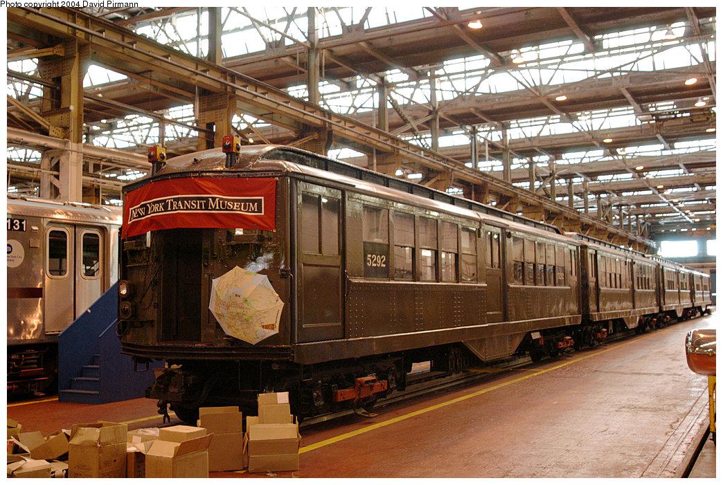 (311k, 1044x701)<br><b>Country:</b> United States<br><b>City:</b> New York<br><b>System:</b> New York City Transit<br><b>Location:</b> 207th Street Shop<br><b>Car:</b> Low-V (Museum Train) 5292 <br><b>Photo by:</b> David Pirmann<br><b>Date:</b> 11/6/2004<br><b>Viewed (this week/total):</b> 3 / 3531