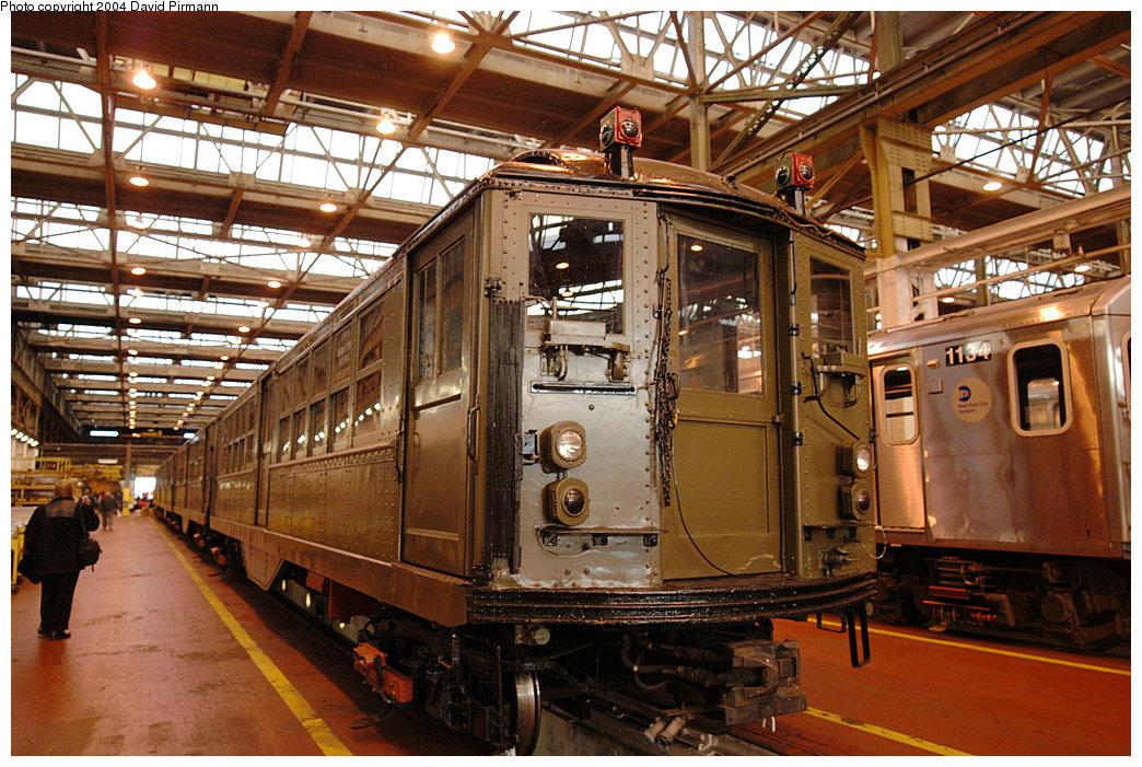 (316k, 1044x701)<br><b>Country:</b> United States<br><b>City:</b> New York<br><b>System:</b> New York City Transit<br><b>Location:</b> 207th Street Shop<br><b>Car:</b> Low-V (Museum Train) 5443 <br><b>Photo by:</b> David Pirmann<br><b>Date:</b> 11/6/2004<br><b>Viewed (this week/total):</b> 0 / 2936