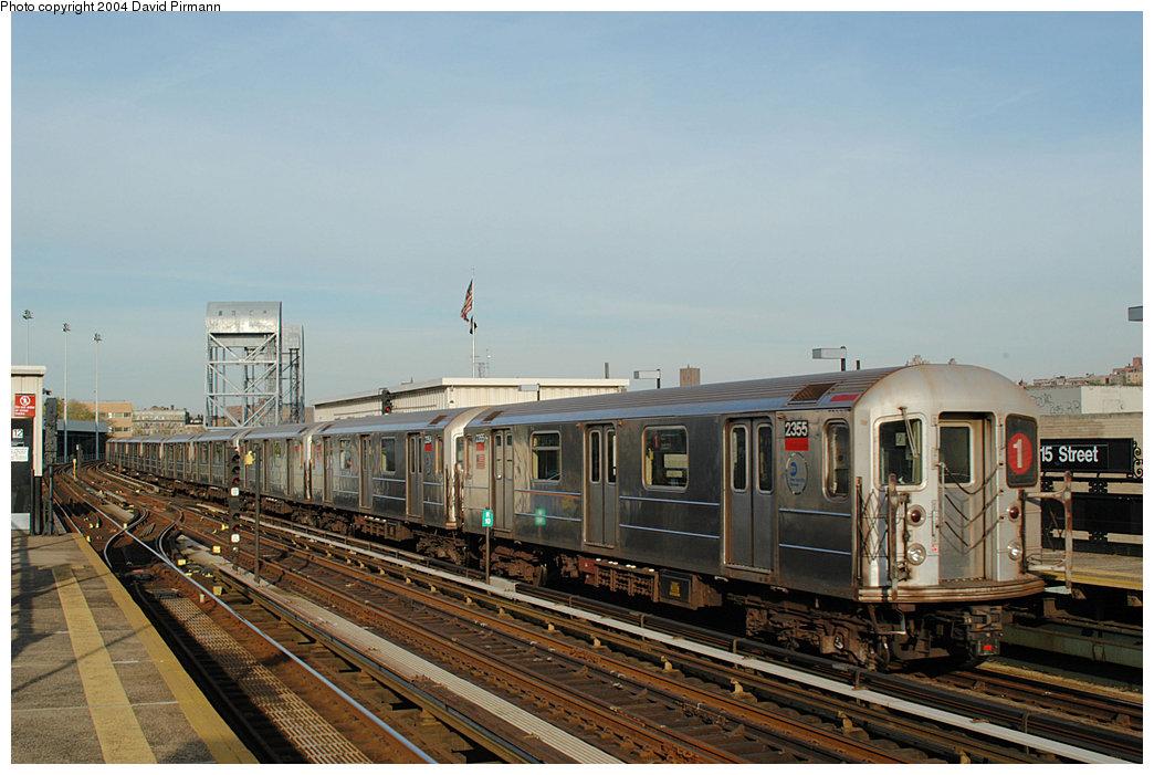 (233k, 1044x701)<br><b>Country:</b> United States<br><b>City:</b> New York<br><b>System:</b> New York City Transit<br><b>Line:</b> IRT West Side Line<br><b>Location:</b> 215th Street<br><b>Route:</b> 1<br><b>Car:</b> R-62A (Bombardier, 1984-1987) 2355 <br><b>Photo by:</b> David Pirmann<br><b>Date:</b> 11/6/2004<br><b>Viewed (this week/total):</b> 2 / 4634