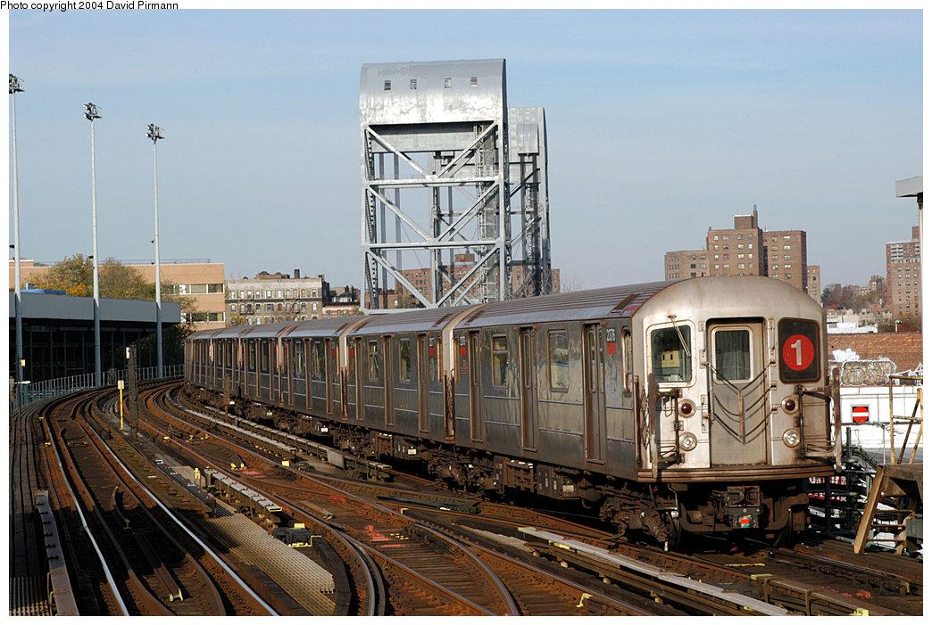 (261k, 1044x701)<br><b>Country:</b> United States<br><b>City:</b> New York<br><b>System:</b> New York City Transit<br><b>Line:</b> IRT West Side Line<br><b>Location:</b> 215th Street<br><b>Route:</b> 1<br><b>Car:</b> R-62A (Bombardier, 1984-1987) 2376 <br><b>Photo by:</b> David Pirmann<br><b>Date:</b> 11/6/2004<br><b>Viewed (this week/total):</b> 2 / 4931