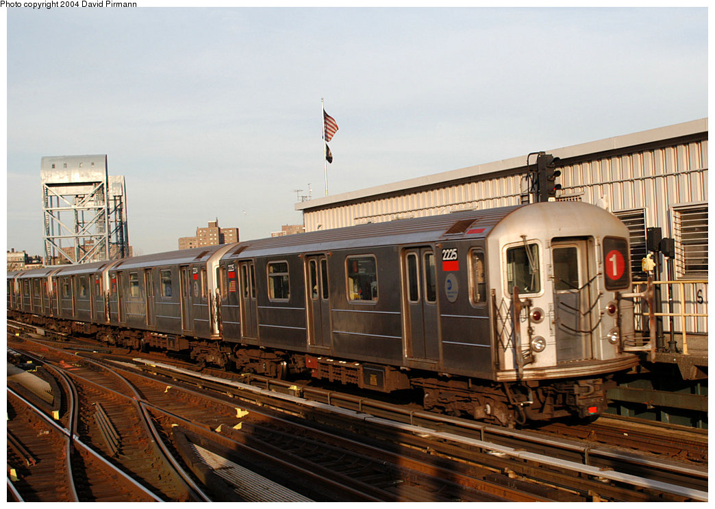 (267k, 1044x743)<br><b>Country:</b> United States<br><b>City:</b> New York<br><b>System:</b> New York City Transit<br><b>Line:</b> IRT West Side Line<br><b>Location:</b> 215th Street<br><b>Route:</b> 1<br><b>Car:</b> R-62A (Bombardier, 1984-1987) 2225 <br><b>Photo by:</b> David Pirmann<br><b>Date:</b> 11/6/2004<br><b>Viewed (this week/total):</b> 0 / 3466