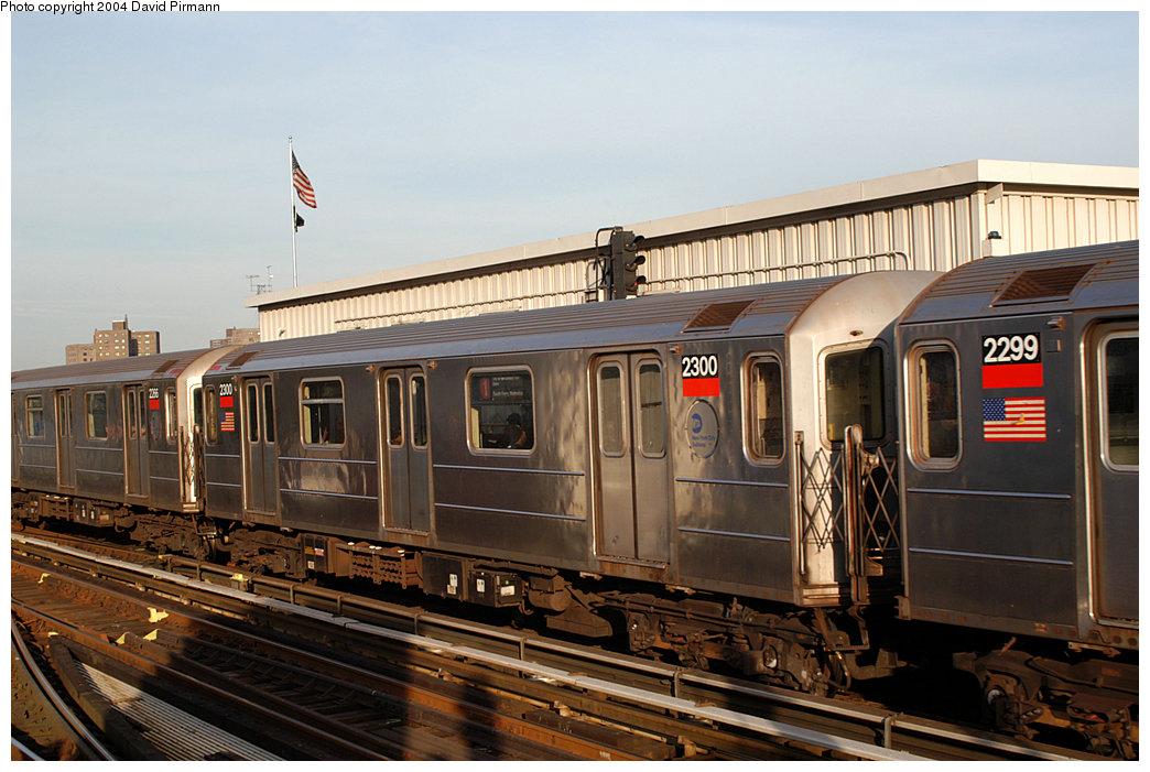 (248k, 1044x701)<br><b>Country:</b> United States<br><b>City:</b> New York<br><b>System:</b> New York City Transit<br><b>Line:</b> IRT West Side Line<br><b>Location:</b> 215th Street<br><b>Route:</b> 1<br><b>Car:</b> R-62A (Bombardier, 1984-1987) 2300 <br><b>Photo by:</b> David Pirmann<br><b>Date:</b> 11/6/2004<br><b>Viewed (this week/total):</b> 0 / 3788