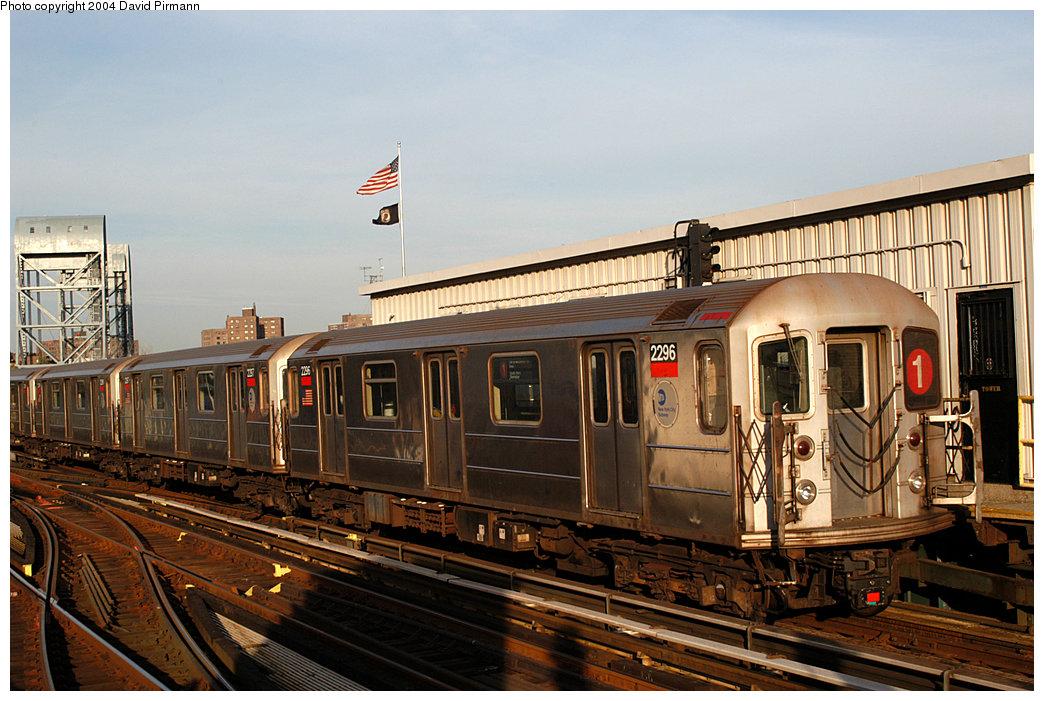 (269k, 1044x701)<br><b>Country:</b> United States<br><b>City:</b> New York<br><b>System:</b> New York City Transit<br><b>Line:</b> IRT West Side Line<br><b>Location:</b> 215th Street<br><b>Route:</b> 1<br><b>Car:</b> R-62A (Bombardier, 1984-1987) 2296 <br><b>Photo by:</b> David Pirmann<br><b>Date:</b> 11/6/2004<br><b>Viewed (this week/total):</b> 1 / 3216