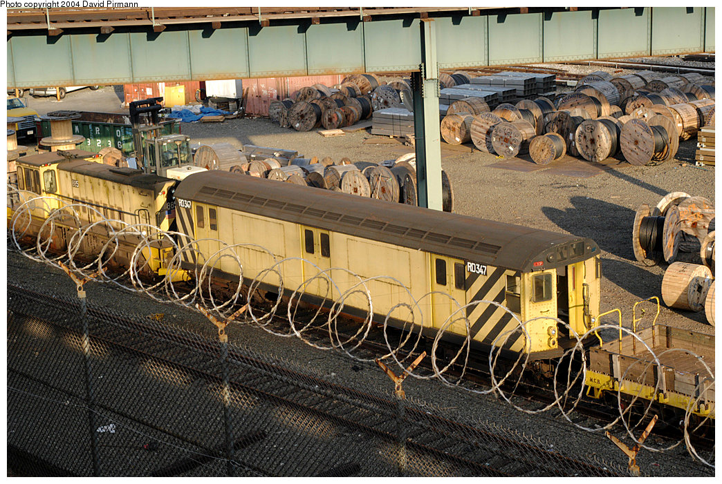 (345k, 1044x701)<br><b>Country:</b> United States<br><b>City:</b> New York<br><b>System:</b> New York City Transit<br><b>Location:</b> 207th Street Yard<br><b>Car:</b> R-71 Rider Car (R-17/R-21/R-22 Rebuilds) RD347 <br><b>Photo by:</b> David Pirmann<br><b>Date:</b> 11/6/2004<br><b>Viewed (this week/total):</b> 2 / 3234