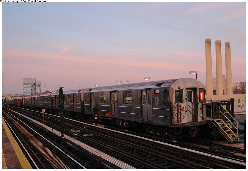 (202k, 1044x721)<br><b>Country:</b> United States<br><b>City:</b> New York<br><b>System:</b> New York City Transit<br><b>Line:</b> IRT West Side Line<br><b>Location:</b> 215th Street<br><b>Route:</b> 1<br><b>Car:</b> R-62A (Bombardier, 1984-1987) 2471 <br><b>Photo by:</b> David Pirmann<br><b>Date:</b> 11/6/2004<br><b>Viewed (this week/total):</b> 1 / 4151