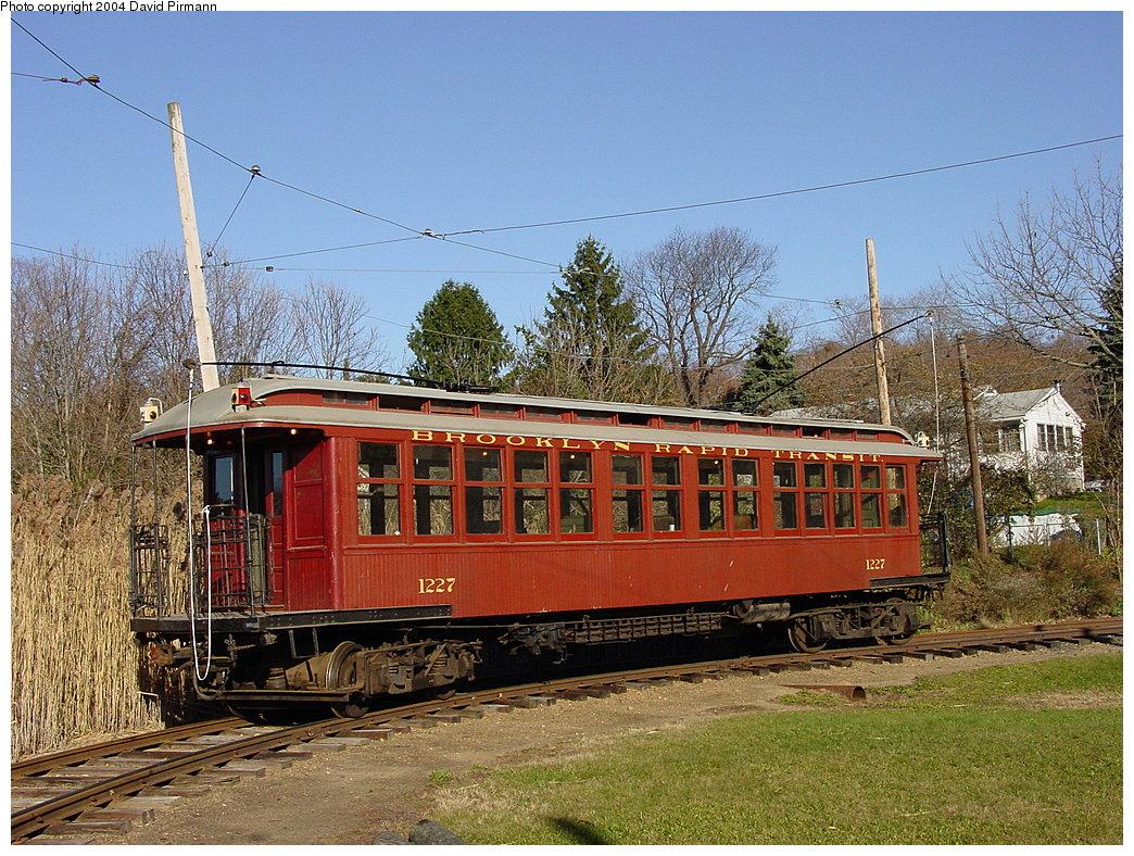 (275k, 1044x788)<br><b>Country:</b> United States<br><b>City:</b> East Haven/Branford, Ct.<br><b>System:</b> Shore Line Trolley Museum<br><b>Car:</b> BMT Elevated Gate Car 1227 <br><b>Photo by:</b> David Pirmann<br><b>Date:</b> 11/14/2004<br><b>Viewed (this week/total):</b> 12 / 5061