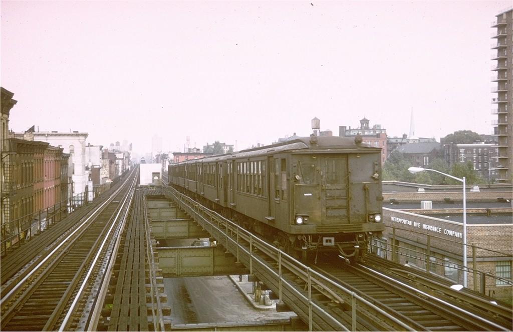 (166k, 1024x664)<br><b>Country:</b> United States<br><b>City:</b> New York<br><b>System:</b> New York City Transit<br><b>Line:</b> BMT Myrtle Avenue Line<br><b>Location:</b> Vanderbilt Avenue<br><b>Route:</b> Fan Trip<br><b>Car:</b> BMT Q 1602 <br><b>Photo by:</b> Steve Zabel<br><b>Collection of:</b> Joe Testagrose<br><b>Date:</b> 9/20/1969<br><b>Viewed (this week/total):</b> 0 / 6085