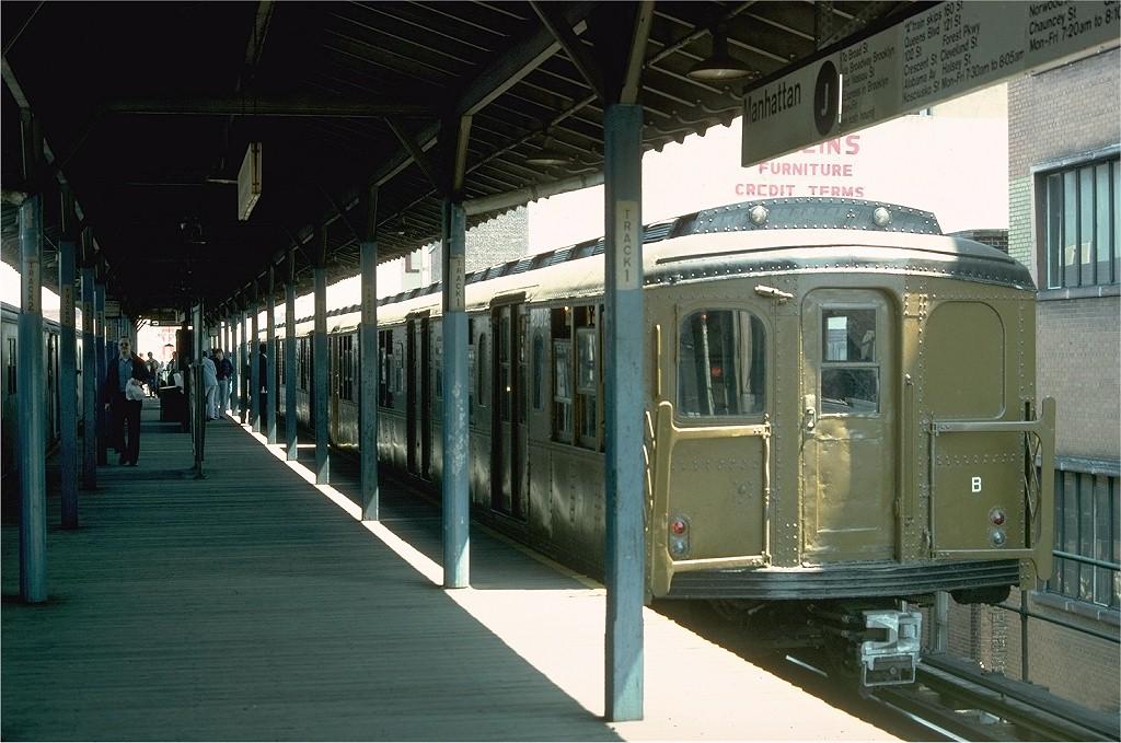(200k, 1024x679)<br><b>Country:</b> United States<br><b>City:</b> New York<br><b>System:</b> New York City Transit<br><b>Line:</b> BMT Nassau Street-Jamaica Line<br><b>Location:</b> 168th Street (Demolished)<br><b>Route:</b> Fan Trip<br><b>Car:</b> BMT A/B-Type Standard 2392 <br><b>Photo by:</b> Joe Testagrose<br><b>Date:</b> 4/30/1977<br><b>Viewed (this week/total):</b> 0 / 5323