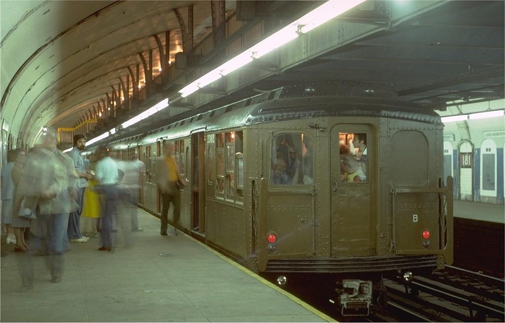 (157k, 1024x654)<br><b>Country:</b> United States<br><b>City:</b> New York<br><b>System:</b> New York City Transit<br><b>Line:</b> IND 8th Avenue Line<br><b>Location:</b> 181st Street<br><b>Route:</b> Fan Trip<br><b>Car:</b> BMT A/B-Type Standard 2392 <br><b>Photo by:</b> Steve Zabel<br><b>Collection of:</b> Joe Testagrose<br><b>Date:</b> 5/21/1978<br><b>Viewed (this week/total):</b> 0 / 4901