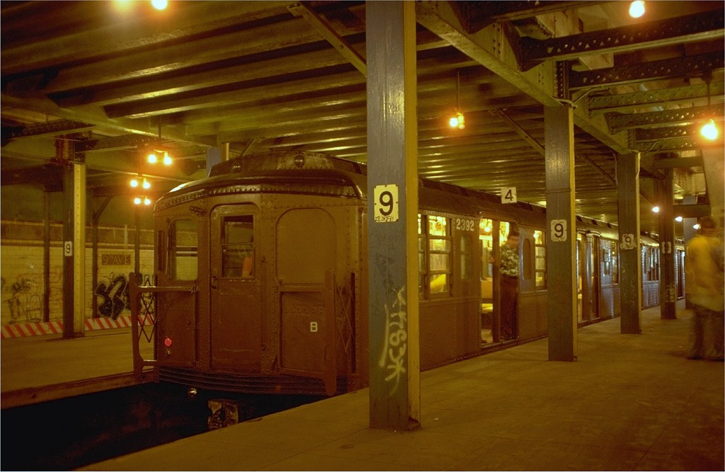 (163k, 1024x667)<br><b>Country:</b> United States<br><b>City:</b> New York<br><b>System:</b> New York City Transit<br><b>Line:</b> BMT West End Line<br><b>Location:</b> 9th Avenue<br><b>Route:</b> Fan Trip<br><b>Car:</b> BMT A/B-Type Standard 2392 <br><b>Photo by:</b> Joe Testagrose<br><b>Date:</b> 5/21/1978<br><b>Viewed (this week/total):</b> 0 / 4501