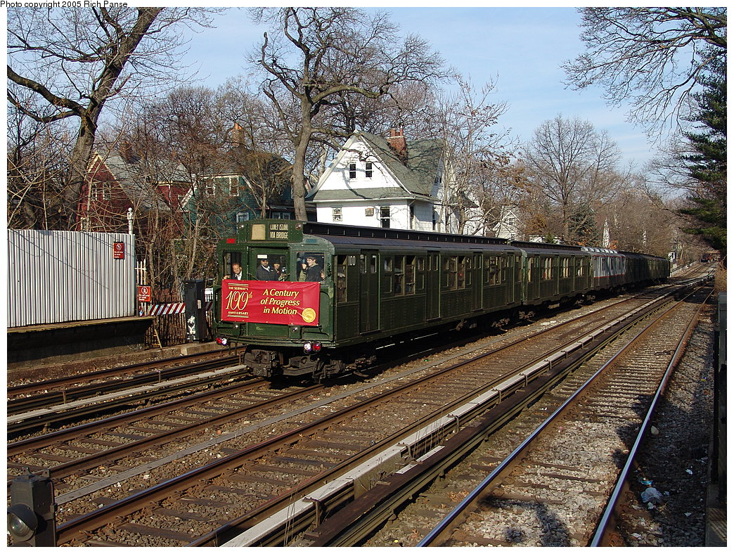 (392k, 1044x788)<br><b>Country:</b> United States<br><b>City:</b> New York<br><b>System:</b> New York City Transit<br><b>Line:</b> BMT Brighton Line<br><b>Location:</b> Avenue H<br><b>Route:</b> Fan Trip<br><b>Car:</b> R-1 (American Car & Foundry, 1930-1931) 100 <br><b>Photo by:</b> Richard Panse<br><b>Date:</b> 1/1/2005<br><b>Viewed (this week/total):</b> 3 / 4721