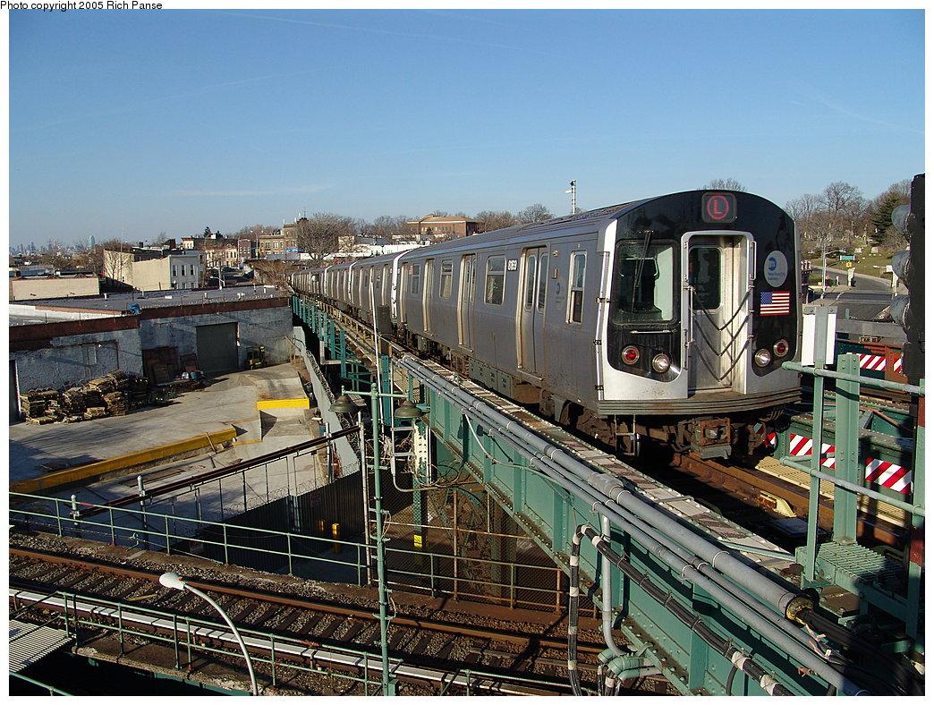 (275k, 1044x788)<br><b>Country:</b> United States<br><b>City:</b> New York<br><b>System:</b> New York City Transit<br><b>Line:</b> BMT Canarsie Line<br><b>Location:</b> Broadway Junction<br><b>Route:</b> L<br><b>Car:</b> R-143 (Kawasaki, 2001-2002) 8169 <br><b>Photo by:</b> Richard Panse<br><b>Date:</b> 1/1/2005<br><b>Viewed (this week/total):</b> 0 / 5708