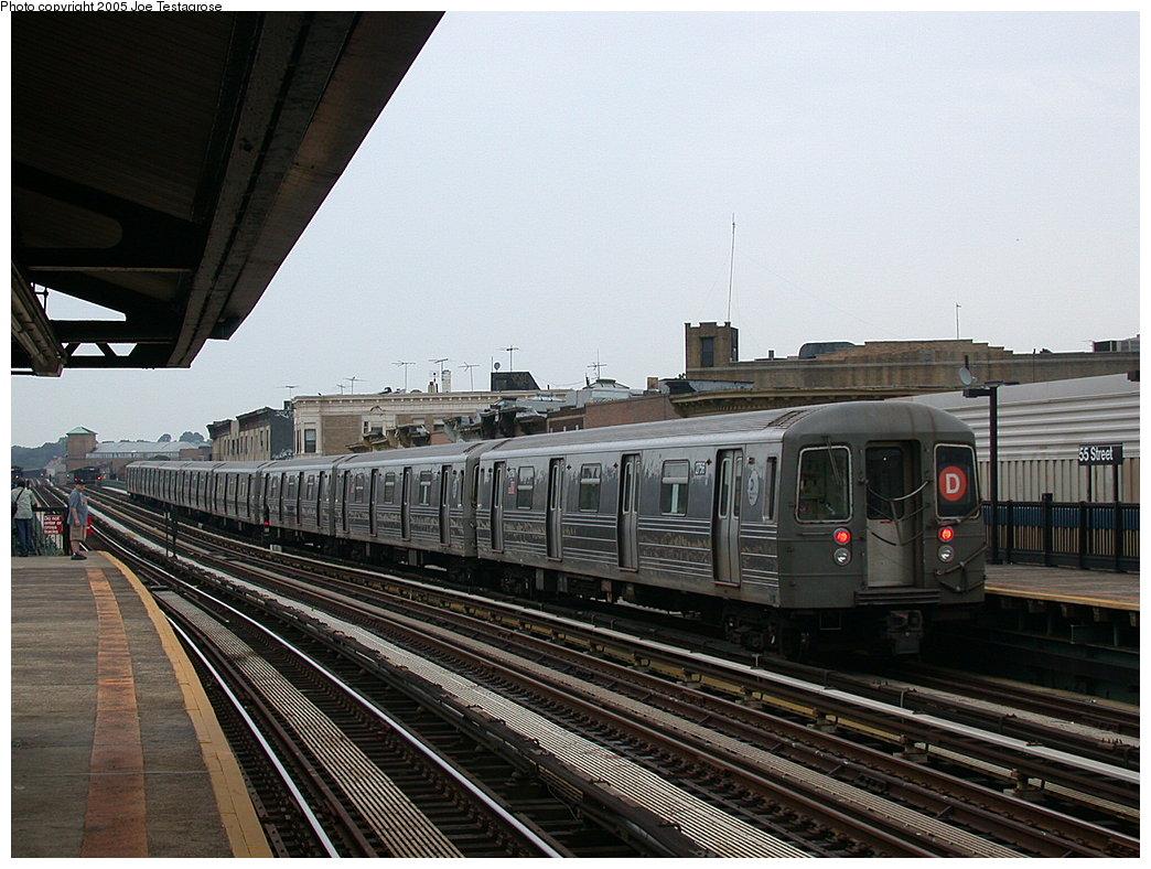 (220k, 1044x788)<br><b>Country:</b> United States<br><b>City:</b> New York<br><b>System:</b> New York City Transit<br><b>Line:</b> BMT West End Line<br><b>Location:</b> 55th Street<br><b>Route:</b> D<br><b>Car:</b> R-68 (Westinghouse-Amrail, 1986-1988) 2756 <br><b>Photo by:</b> Joe Testagrose<br><b>Date:</b> 7/18/2004<br><b>Viewed (this week/total):</b> 0 / 3259