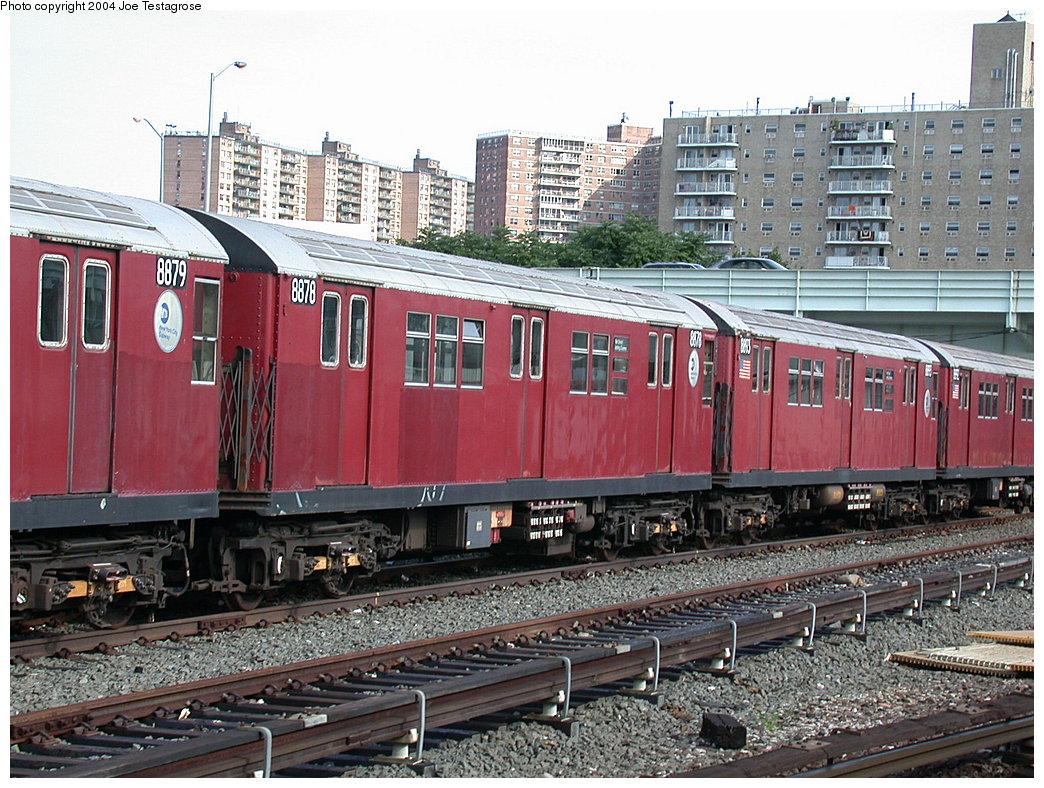 (275k, 1044x788)<br><b>Country:</b> United States<br><b>City:</b> New York<br><b>System:</b> New York City Transit<br><b>Location:</b> Coney Island Yard<br><b>Car:</b> R-33 Main Line (St. Louis, 1962-63) 8878 <br><b>Photo by:</b> Joe Testagrose<br><b>Date:</b> 7/25/2004<br><b>Viewed (this week/total):</b> 1 / 3916