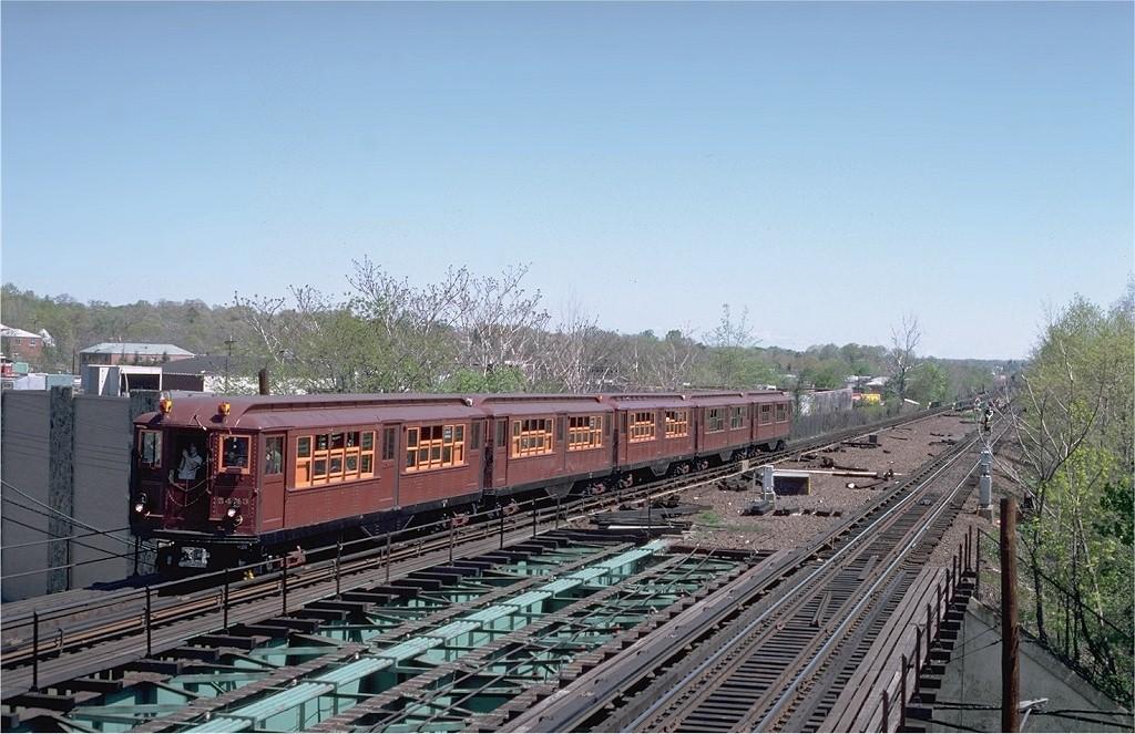 (207k, 1024x663)<br><b>Country:</b> United States<br><b>City:</b> New York<br><b>System:</b> New York City Transit<br><b>Line:</b> IRT Dyre Ave. Line<br><b>Location:</b> Baychester Avenue<br><b>Route:</b> Fan Trip<br><b>Car:</b> Low-V (Museum Train) 5443 <br><b>Photo by:</b> Steve Zabel<br><b>Collection of:</b> Joe Testagrose<br><b>Date:</b> 5/5/1979<br><b>Viewed (this week/total):</b> 1 / 3882