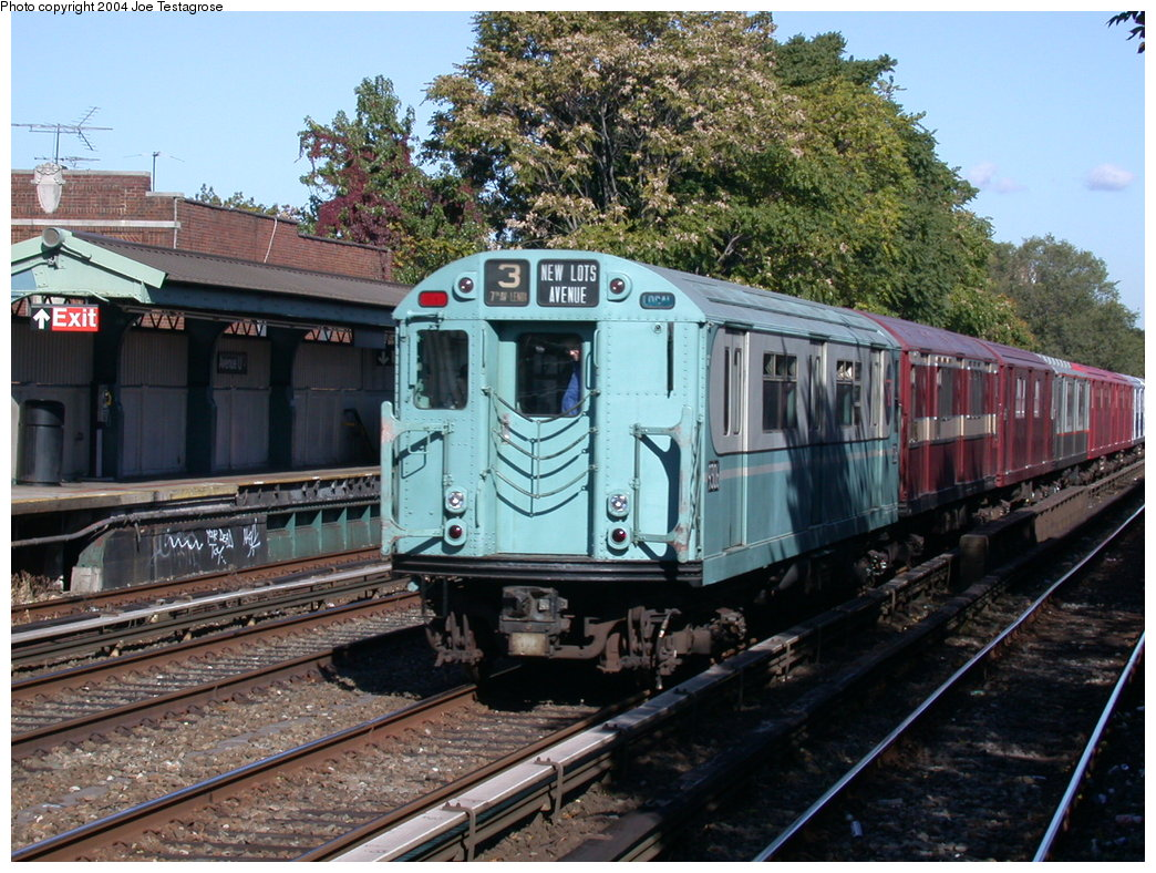 (259k, 1044x788)<br><b>Country:</b> United States<br><b>City:</b> New York<br><b>System:</b> New York City Transit<br><b>Line:</b> BMT Brighton Line<br><b>Location:</b> Avenue U<br><b>Route:</b> Fan Trip<br><b>Car:</b> R-33 World's Fair (St. Louis, 1963-64) 9306 <br><b>Photo by:</b> Joe Testagrose<br><b>Date:</b> 10/23/2004<br><b>Viewed (this week/total):</b> 1 / 3229