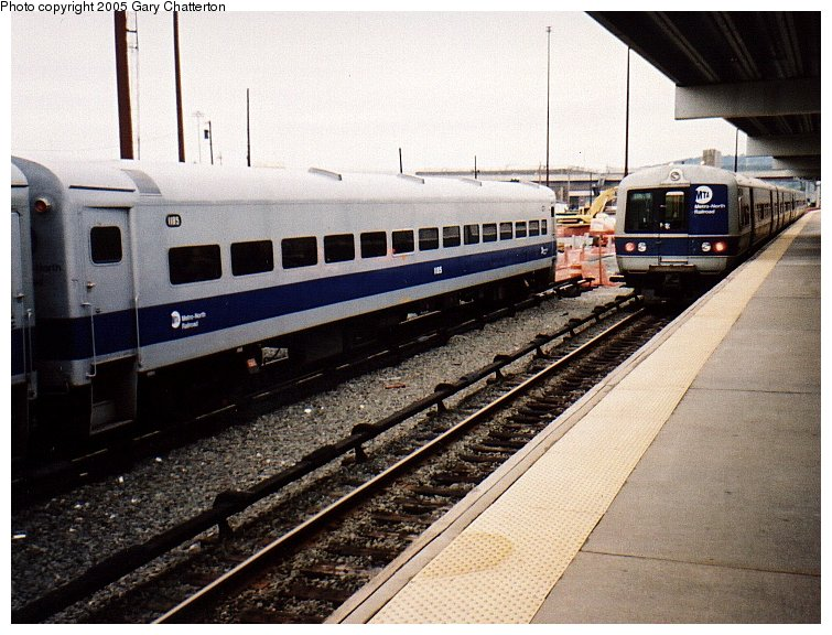 (112k, 755x576)<br><b>Country:</b> United States<br><b>System:</b> Metro-North Railroad (or Amtrak or Predecessor RR)<br><b>Line:</b> Metro North-Hudson Line<br><b>Location:</b> MNRR Croton-Harmon Shops/Yard<br><b>Car:</b> MNRR ACMU 1185 <br><b>Photo by:</b> Gary Chatterton<br><b>Date:</b> 10/19/2002<br><b>Viewed (this week/total):</b> 0 / 2486