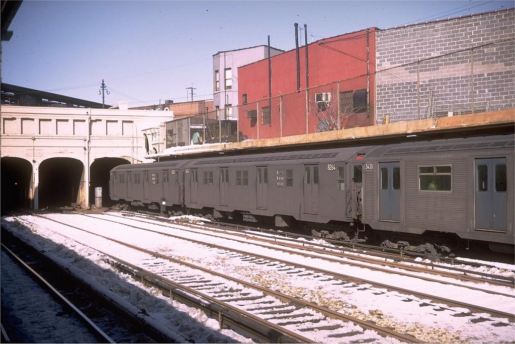 (248k, 1024x683)<br><b>Country:</b> United States<br><b>City:</b> New York<br><b>System:</b> New York City Transit<br><b>Line:</b> BMT Sea Beach Line<br><b>Location:</b> New Utrecht Avenue<br><b>Route:</b> N<br><b>Car:</b> R-30 (St. Louis, 1961) 8264 <br><b>Photo by:</b> Doug Grotjahn<br><b>Collection of:</b> Joe Testagrose<br><b>Date:</b> 2/15/1969<br><b>Viewed (this week/total):</b> 4 / 6030