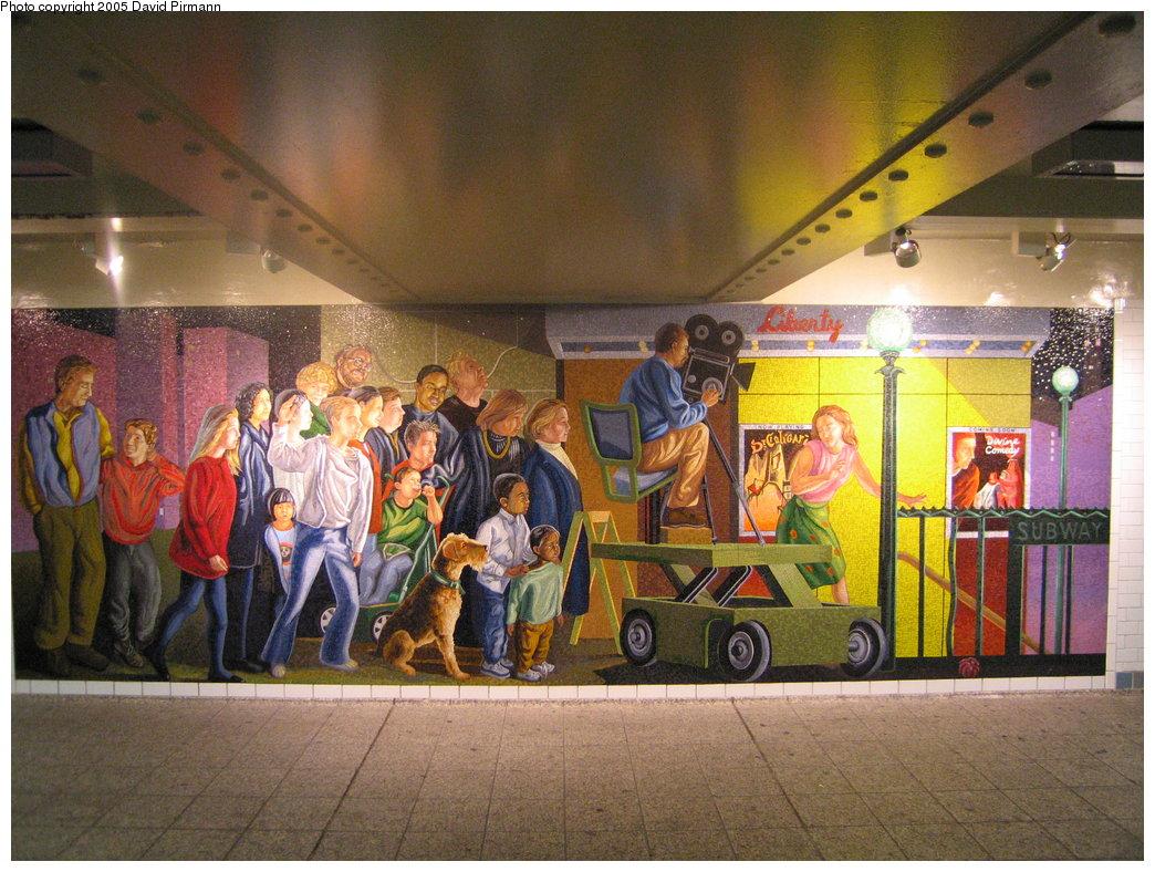 (224k, 1044x788)<br><b>Country:</b> United States<br><b>City:</b> New York<br><b>System:</b> New York City Transit<br><b>Line:</b> IRT West Side Line<br><b>Location:</b> Times Square/42nd Street<br><b>Photo by:</b> David Pirmann<br><b>Date:</b> 9/6/2005<br><b>Artwork:</b> <i>The Return of Spring/The Onset of Winter</i>, Jack Beal, 1999<br><b>Notes:</b> <i>Onset of Winter</i> panel.<br><b>Viewed (this week/total):</b> 2 / 7484