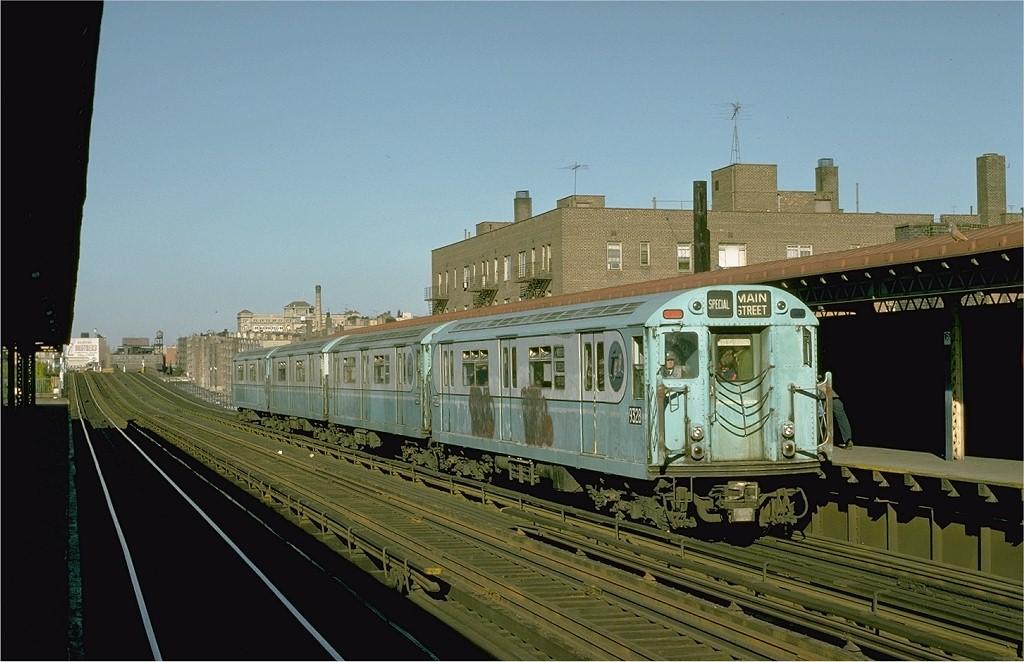 (176k, 1024x662)<br><b>Country:</b> United States<br><b>City:</b> New York<br><b>System:</b> New York City Transit<br><b>Line:</b> IRT Woodlawn Line<br><b>Location:</b> 161st Street-River Avenue (Yankee Stadium)<br><b>Route:</b> Fan Trip<br><b>Car:</b> R-33 World's Fair (St. Louis, 1963-64) 9328 <br><b>Photo by:</b> Joe Testagrose<br><b>Date:</b> 10/27/1974<br><b>Viewed (this week/total):</b> 1 / 2911